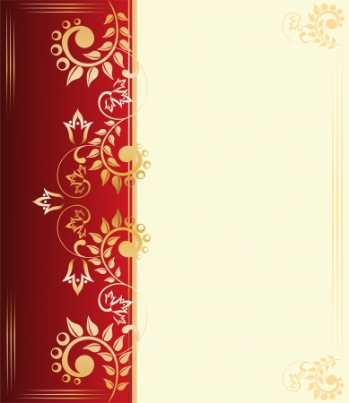 Background with golden ornaments Stock Vector - 17282797