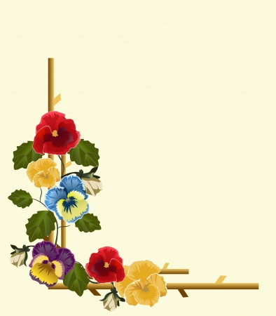 pansies: frame of pansies