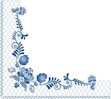 gzhel: Background with ornament Gzhel