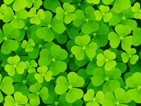 seamless clover: Seamless background leaf clover