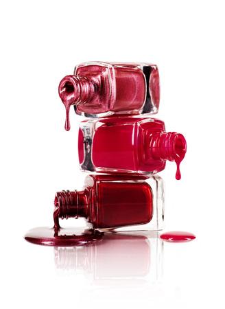 polish: Pile of nail polish Stock Photo