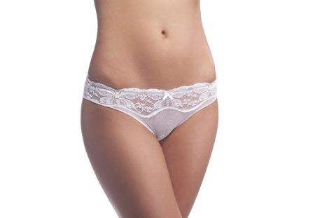white panties: Frau K�rper in wei� H�schen