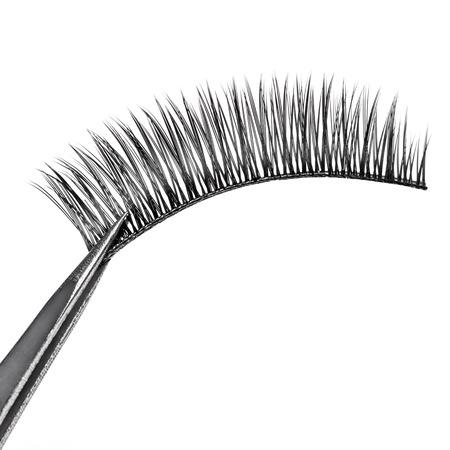 false eyelashes: Isolated false eyelashes on white background