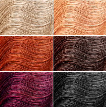 background pattern: Example of different hair colors