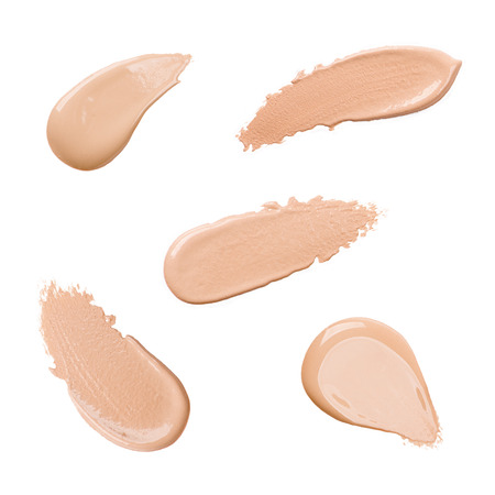 Foundation color sample on white background