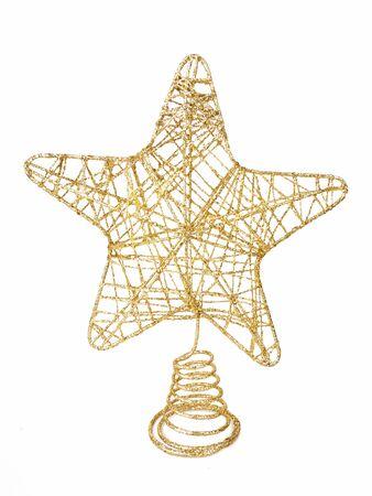 Christmas tree decoration star isolated on white background Reklamní fotografie