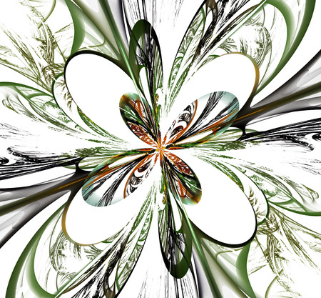 white bacground: Abstract fractal colorful flower on white background. Computer generated image.