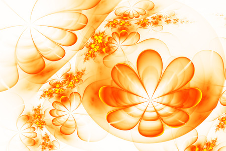 Abstract orange and white flower background computer generated abstract orange and white flower background computer generated image stock photo 82400075 mightylinksfo