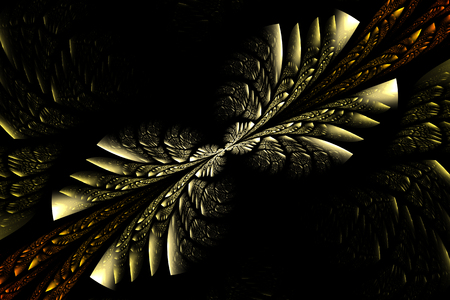 Fractal for art design on a black background. Computed generated image. Stock Photo - 84607840