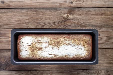 Rye-wheat bread in shape.
