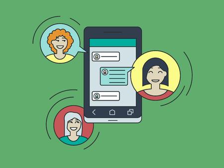 chat, online messenger, Internet communion