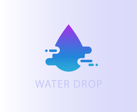 Stylized drop, water movement symbol, logo, icon
