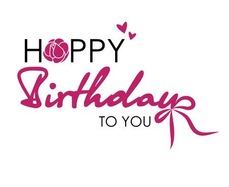 Happy Birthday to You. Postcard text Illustration