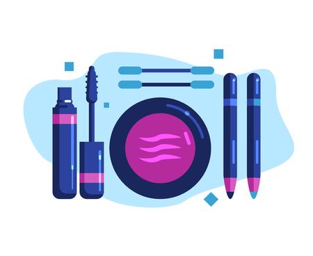 Set of decorative cosmetics for eye makeup