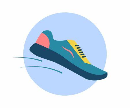 Athletic Sneaker. Symbol of running, athletics, marathon 写真素材 - 136893624