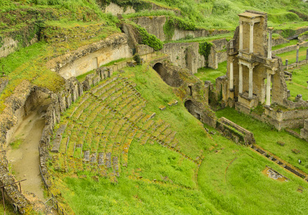 volterra: Roman theatre in the city of Volterra, Italy