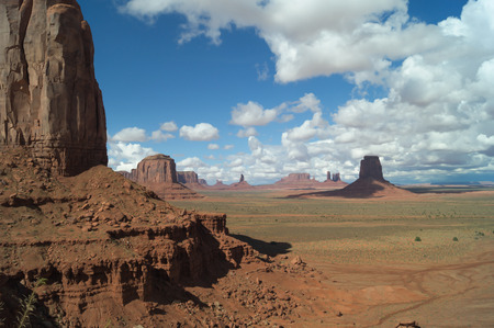 monument valley view: A Majestic view on the Monument valley, Utah-Arizona, USA. Stock Photo