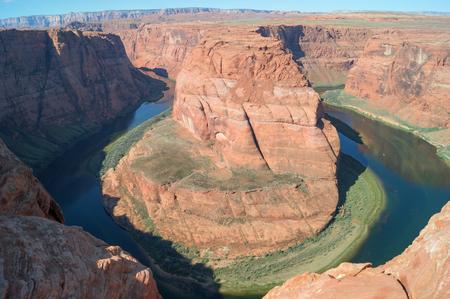 page arizona: A majestic view on Horseshoe bend, Page, Arizona, USA Stock Photo