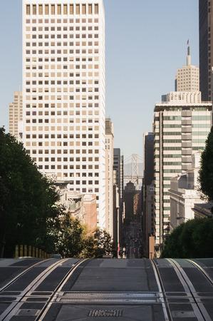 nob hill: View of San Francisco from Nob hill,San Francisco,USA,California.