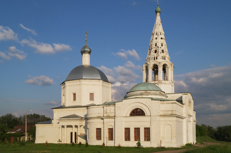 blessed trinity: Trinity Cathedral, built in 1380, Serpukhov, Moscow region,Russia. Stock Photo