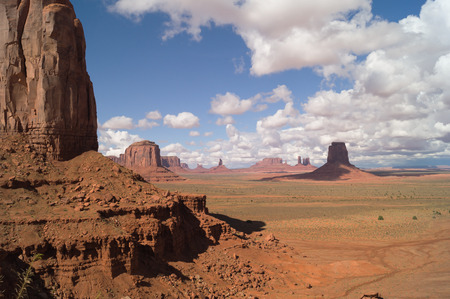 monument valley view: A Majestic view on the Monument valley,Utah-Arizona,USA. Stock Photo