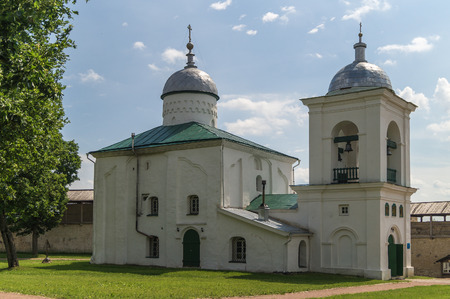 st nicholas cathedral: The St. Nicholas Cathedral, Izborsk fortress,Russia.