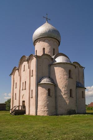 saviour: Church of our Saviour on Nereditsa Hill 12 th.c.,Veliky Novgorod, Russia. Stock Photo