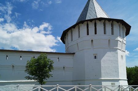 renovated: A view of Vysotsky monastery, Serpukhov city,Moscow region. Editorial