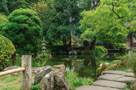 Japanese Tea Garden in The Golden Gate Park, San-Francisco,USA.