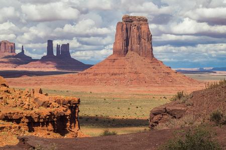 A view on the Monument valley Navajo tribal park,Utah-Arizona,USA. Stock Photo