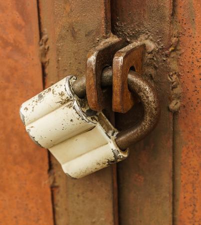 Door lock , close up, vertical.