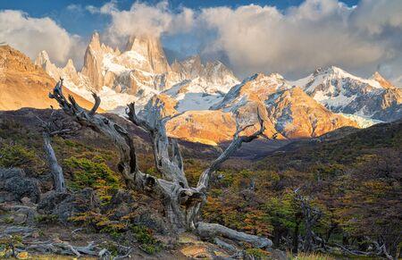 Fitz Roy mount in Los Glaciares National Park, El Chalten,Patagonia, Argentina.
