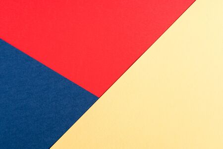 Multi colored abstract paper colors, with geometric shape, flat lay.