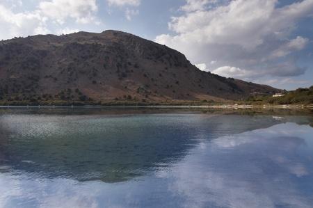 The only fresh water lake in Crete - Lake Kournas.