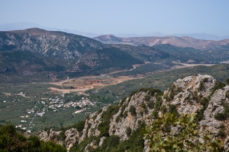 Panoramic landscape over  Mountains in Crete, Greece photo