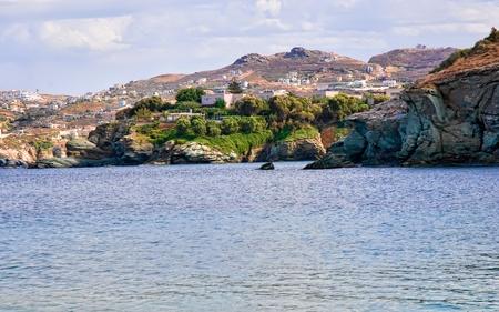 View of  blue bay . Crete, Greece .