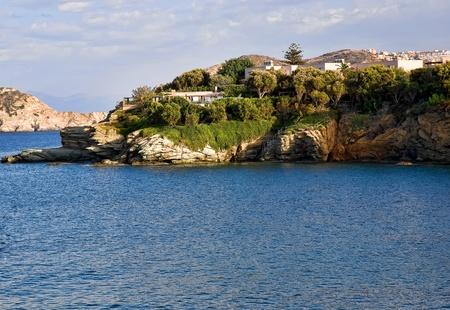 View of  blue bay . Crete, Greece . photo