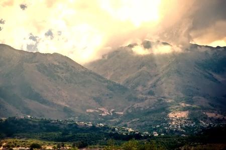 Mountain Landscape Greek island of Crete (Western Crete). Stock Photo
