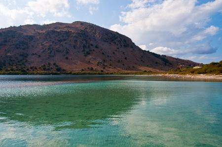 The only fresh water lake in Crete - Lake Kournas. Stock Photo - 9554337