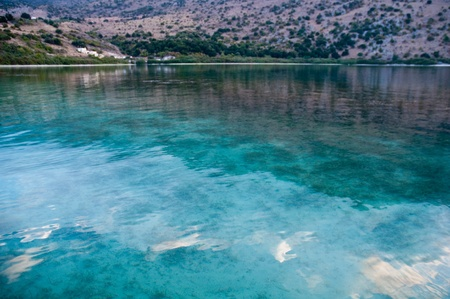 The only fresh water lake in Crete - Lake Kournas. Stock Photo - 9554663