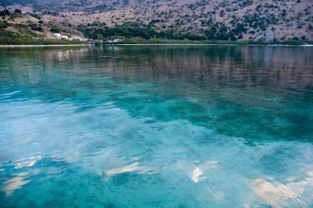 The only fresh water lake in Crete - Lake Kournas. Stock Photo - 9554663