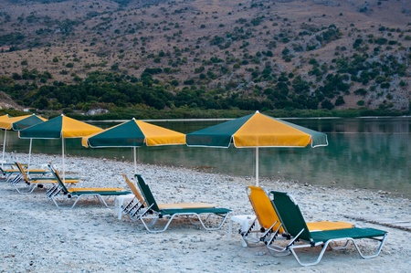 The only fresh water lake in Crete - Lake Kournas. Stock Photo - 9554344