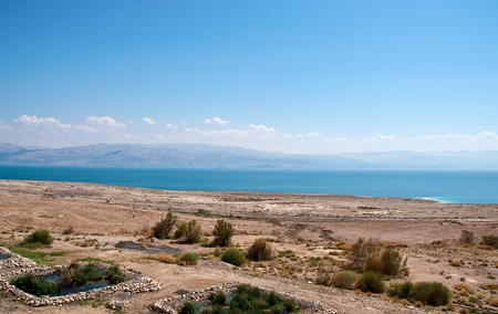 The road along the Dead Sea. photo