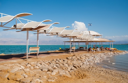Beach on the shores of the Dead Sea. Stock Photo - 9554723