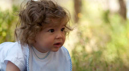 Portrait of a young boy with curly hair. Stock Photo - 9554769