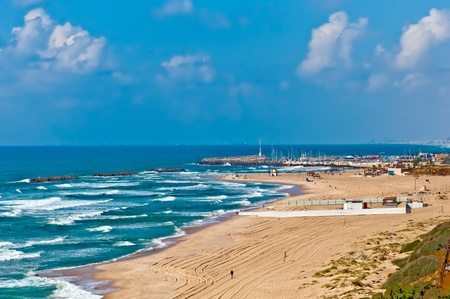 Beach of Ashkelon, Israeli southwestern city on the Mediterranean coast.