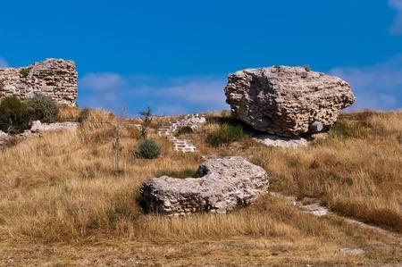 lamentation: Le rovine dell'antica citt� di Ashkelon, che � una delle citt� pi� antiche del pianeta e ha un'et� di circa 5 mila anni. Israele.