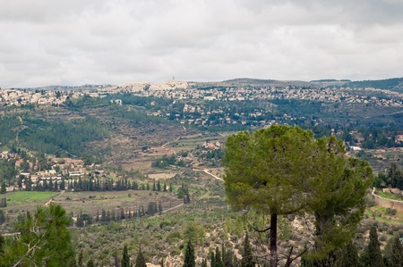 Panorama of one of the districts of Jerusalem (Ein Karem).  Israel. photo