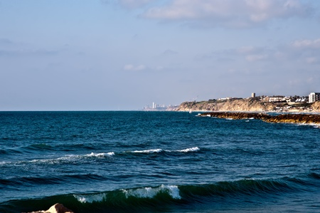 Panoramic view of Herzliya (Israel) . photo