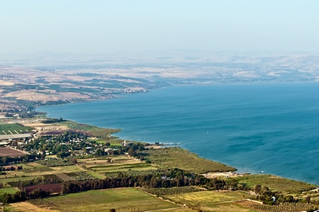 View of the Galilee in the summer . North Israel. photo